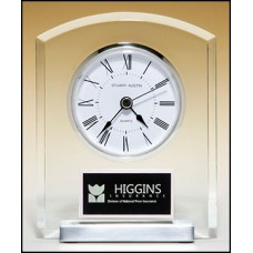BC961 Clear  Acrylic Clock with Aluminum Base